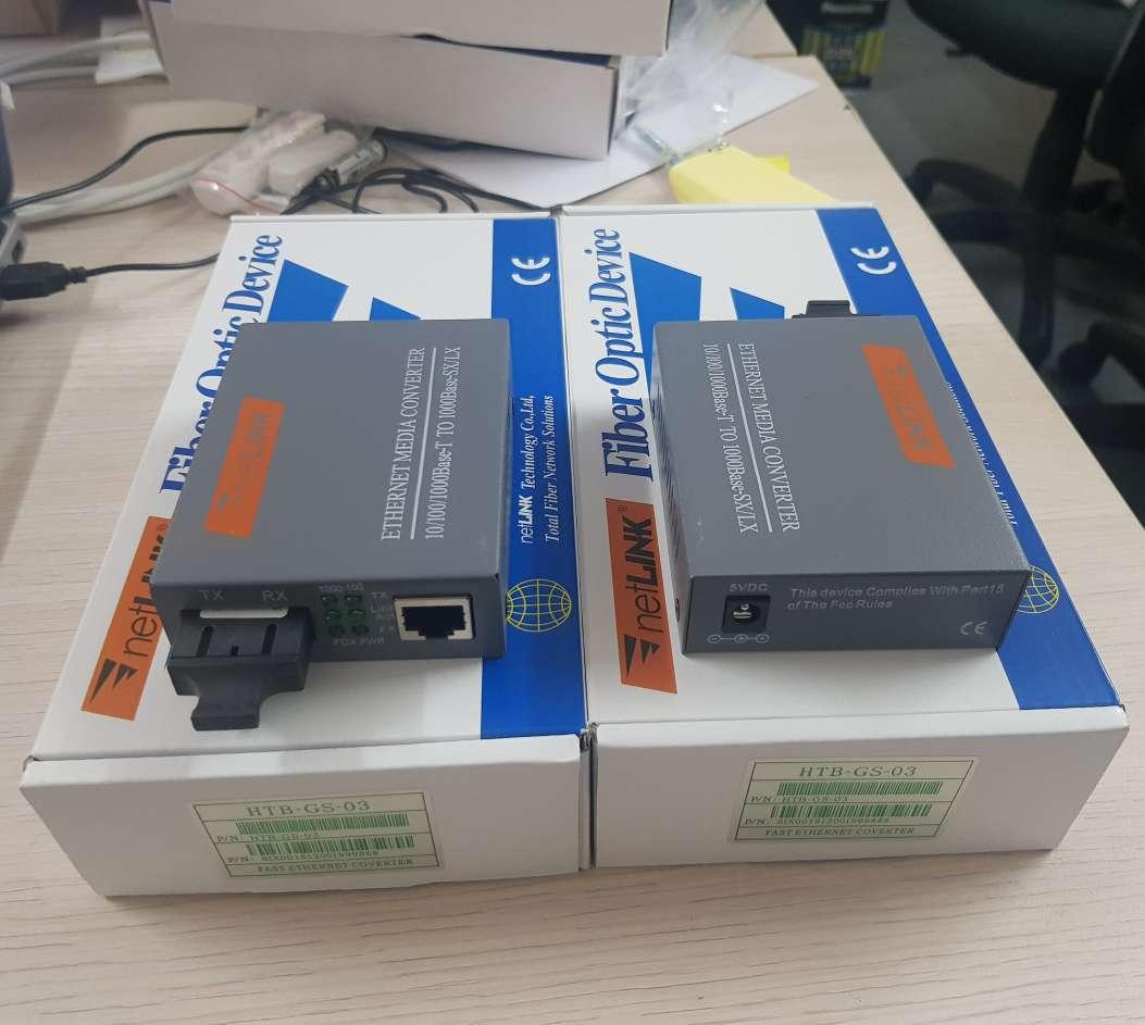 Thiết bị chuyển đổi quang điện 1.0 Gbps netLINK single 2 sợi HTB-GS-03