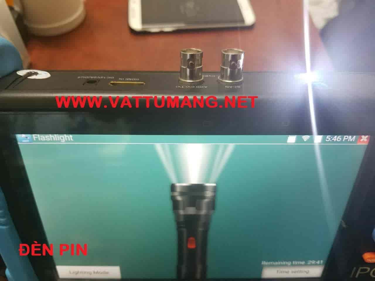 Máy test camera cảm ứng 7 inches Retina (IP 8MP, AHD 5MP, TVI 8MP, CVI 8MP, CVBS) HDMI cho NVR, DVR vào and HDMI xuất ra TIVI (Flexcom FC-900C)