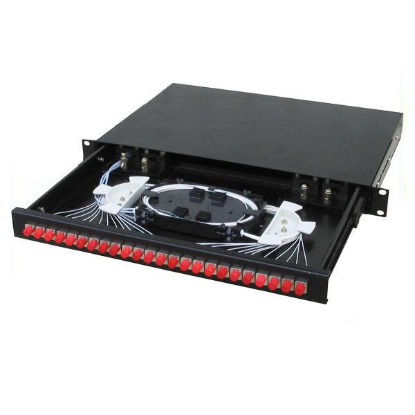 Hộp phối quang (ODF) Single & Multi mode bắt tủ Rack (đầy đủ phụ kiện)