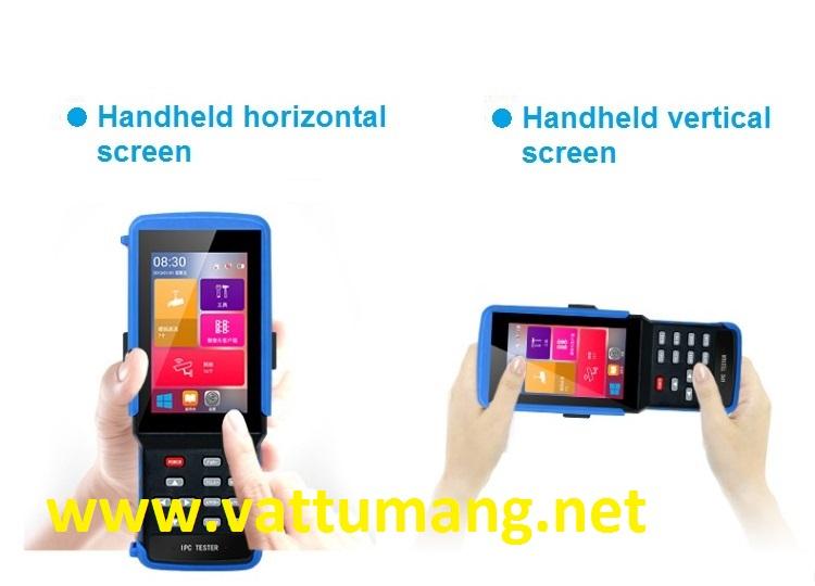 Thiết bị test camera cảm ứng 4.3 inches IP/AHD/TVI/CVI 8.0MP