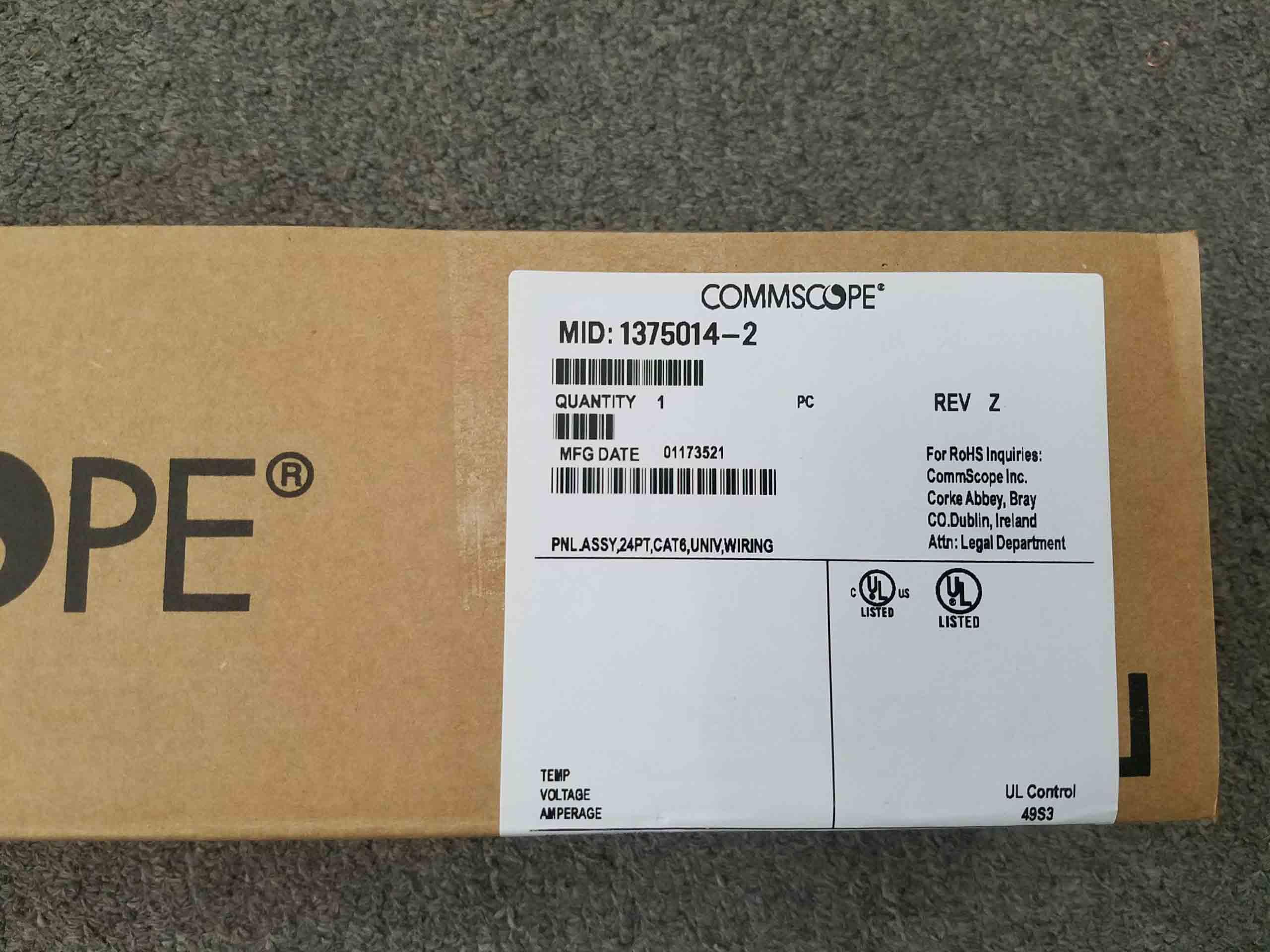 Thanh đấu nối Cat6 AMP (Commscope) 24port (1375014-2)