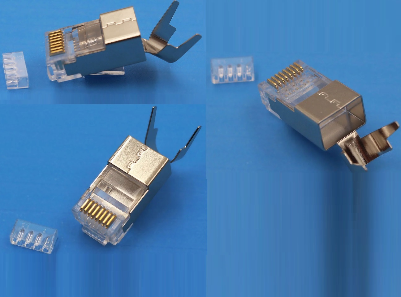 Đầu bấm mạng RJ45 cat7 cho cáp chống nhiễu FTP, SFTP