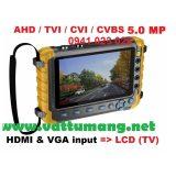 Máy test camera giá rẻ TVI, AHD, CVI, 5.0MP cổng HDMI & VGA input