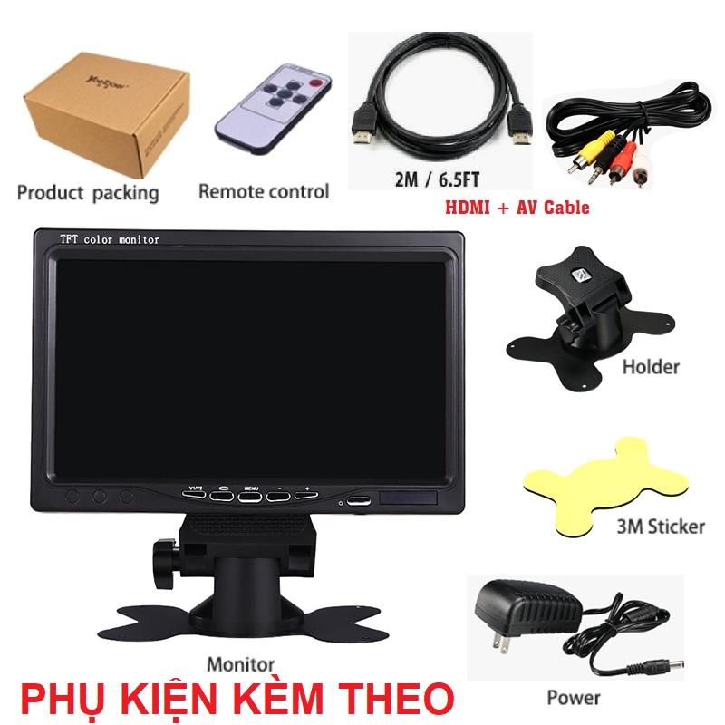 Màn hình test camera quan sát 7 inches HD 1024P có cổng HDMI, VGA và AV
