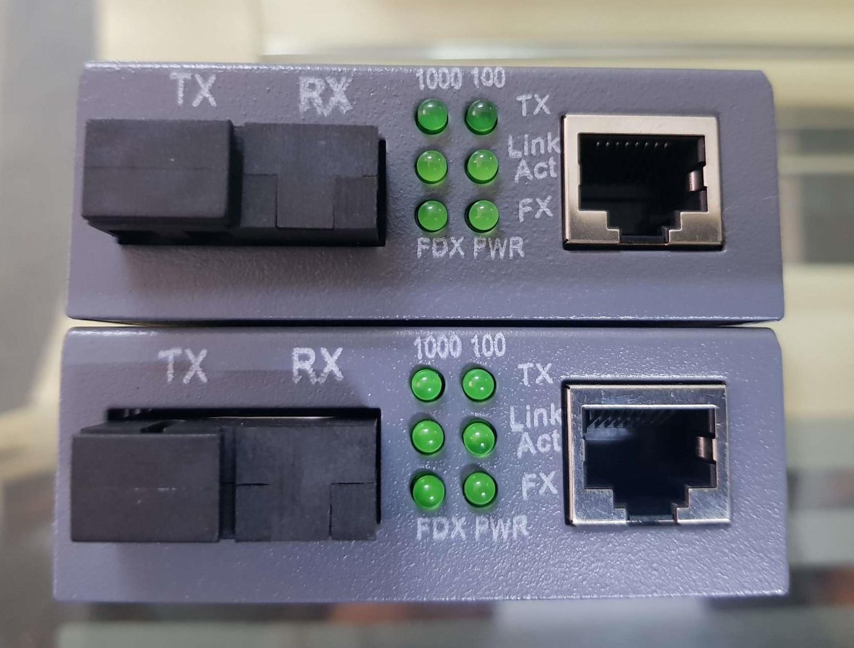 Converter quang 100MB netLINK Single mode 1 sợi 25Km