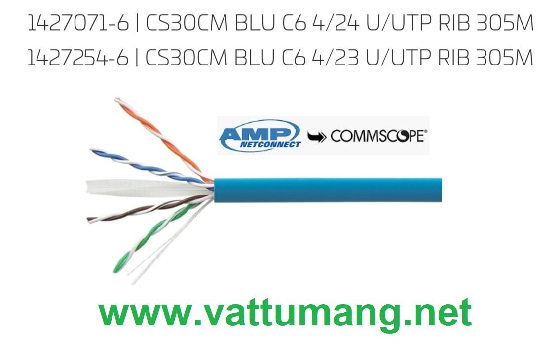Cáp mạng Cat6 AMP (CommScope) UTP màu xanh 1427254-6 hoặc 1427071-6