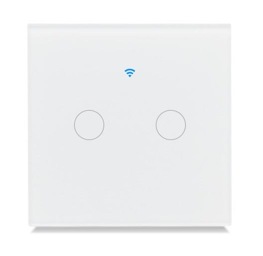 Công tắc đèn cảm ứng wifi điều khiển 2 bóng đèn qua smartphone HV