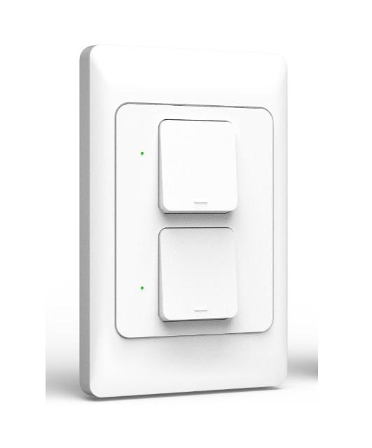 Công tắc cơ thông minh wifi điều khiển 2 bóng đèn qua smartphone HCN