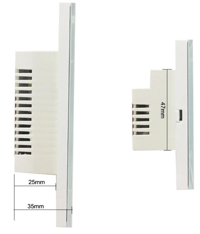 Bộ điều khiển quạt cảm ứng wifi qua smartphone HCN white